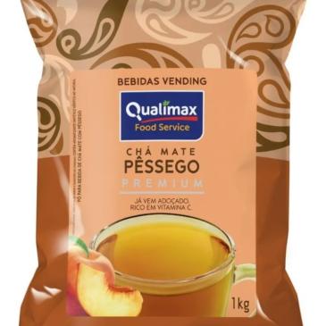 Chá Mate Pêssego Premium  Qualimax Kg